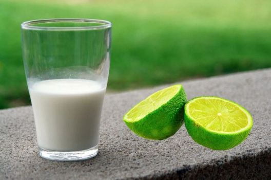 Nodular acne - Milk lime